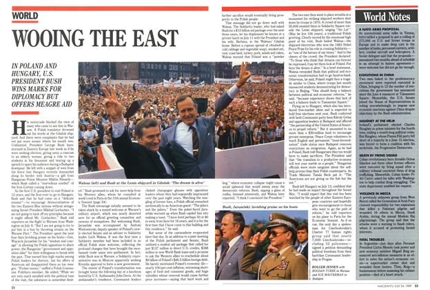 Article Preview: WOOING THE EAST, July 1989 | Maclean's
