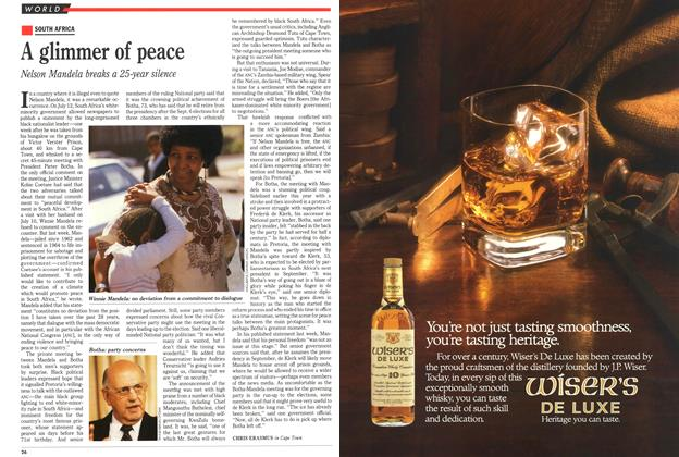 Article Preview: A glimmer of peace, July 1989 | Maclean's