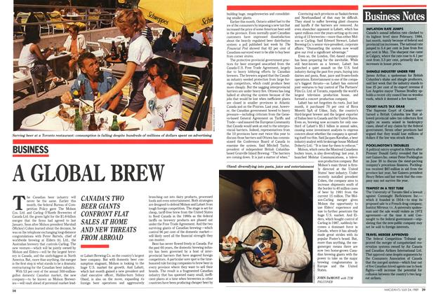 Article Preview: A GLOBAL BREW, July 1989 | Maclean's