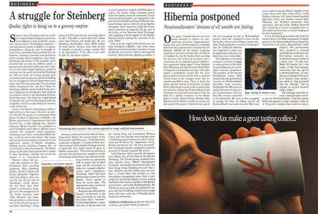 Article Preview: Hibernia postponed, July 1989 | Maclean's