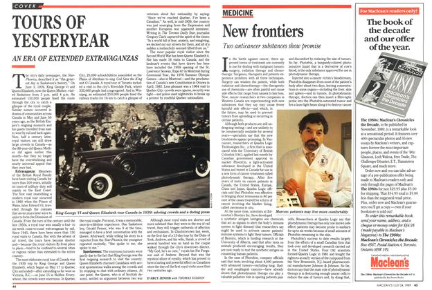 Article Preview: TOURS OF YESTERYEAR, July 1989 | Maclean's