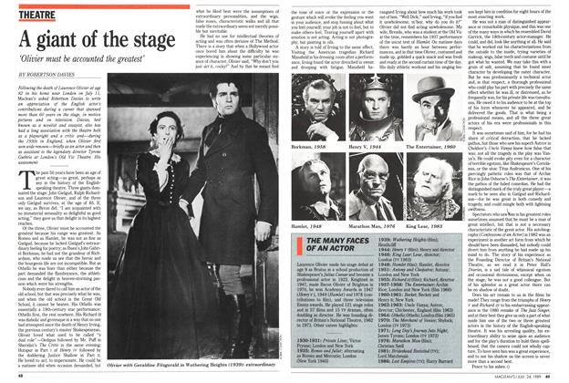 Article Preview: THE MANY FACES OF AN ACTOR, July 1989 | Maclean's