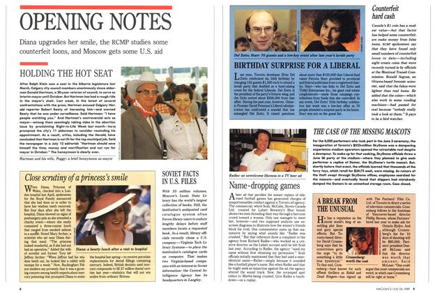Article Preview: OPENING NOTES, July 1989   Maclean's