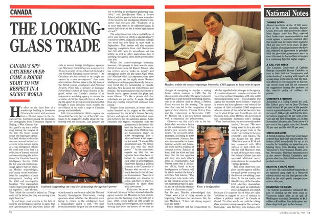 Article Preview: THE LOOKING-GLASS TRADE, July 1989 | Maclean's