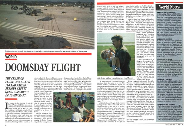 Article Preview: DOOMSDAY FLIGHT, July 1989 | Maclean's