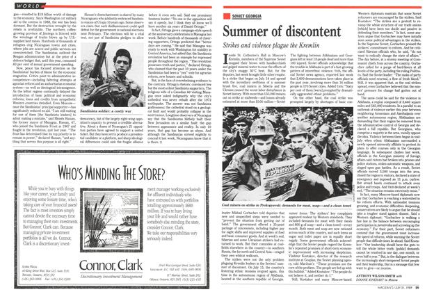 Article Preview: Summer of discontent, July 1989 | Maclean's