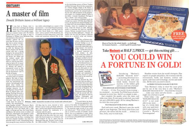 Article Preview: A master of film, July 1989 | Maclean's