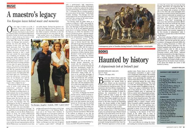 Article Preview: Haunted by history, July 1989 | Maclean's