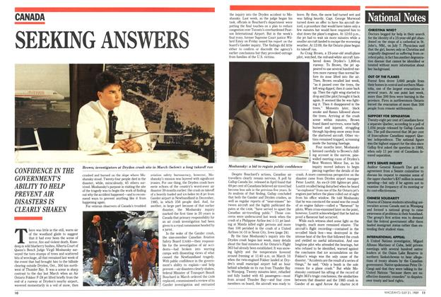 Article Preview: SEEKING ANSWERS, July 1989 | Maclean's