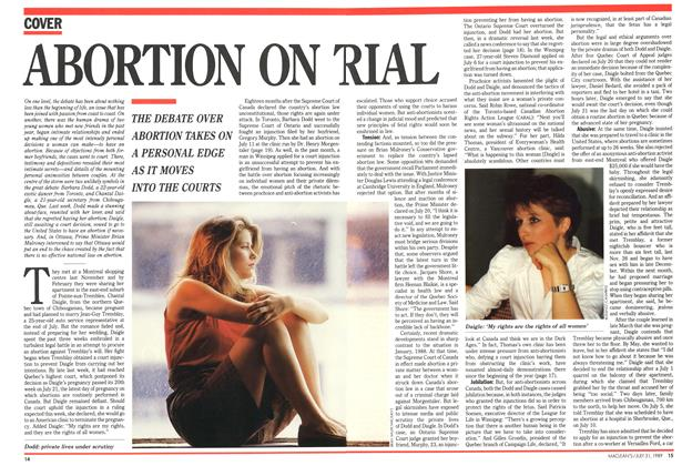 Article Preview: ABORTION ON TRIAL, July 1989 | Maclean's