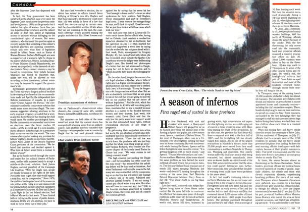 Article Preview: A season of infernos, August 1989 | Maclean's