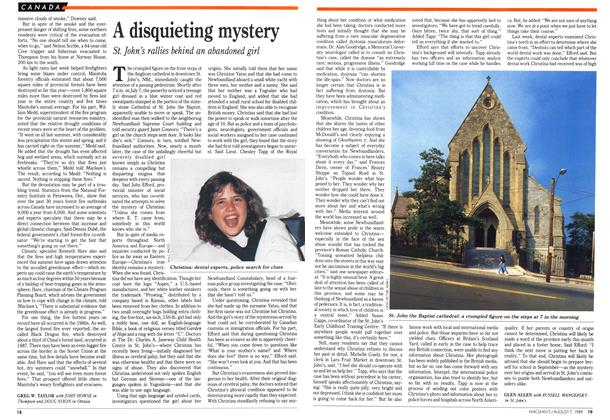 Article Preview: A disquieting mystery, August 1989 | Maclean's