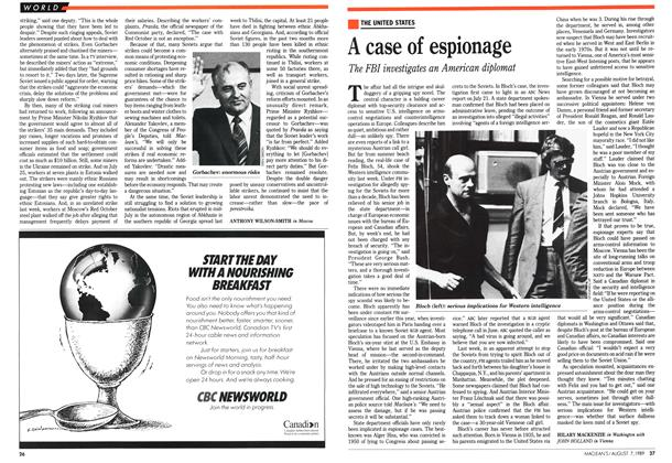Article Preview: A case of espionage, August 1989 | Maclean's