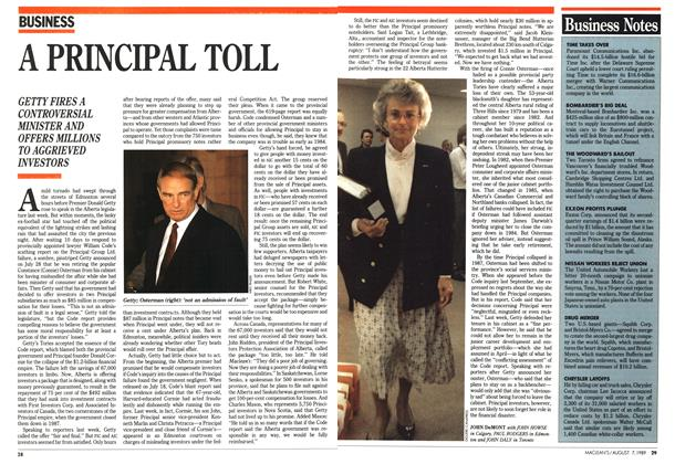 Article Preview: A PRINCIPAL TOLL, August 1989 | Maclean's