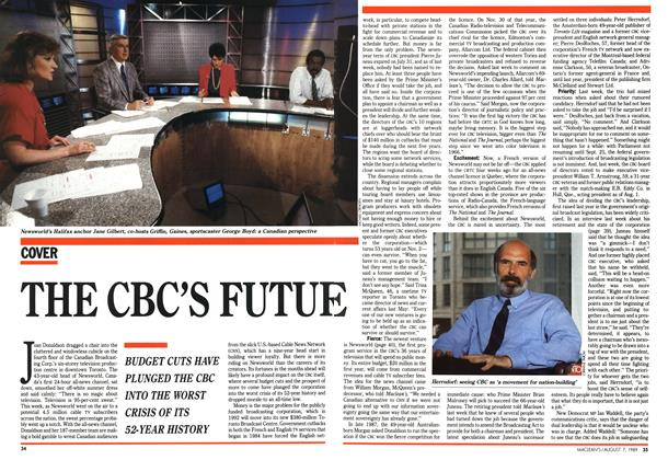 Article Preview: THE CBC'S FUTURE, August 1989 | Maclean's