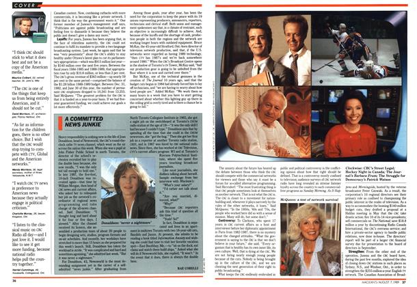 Article Preview: A COMMITTED NEWS JUNKIE, August 1989 | Maclean's