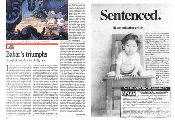 Article Preview: Babar's triumphs, August 1989 | Maclean's