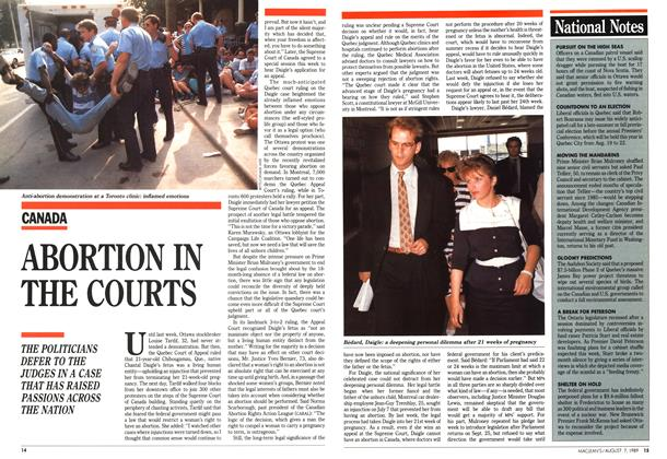 Article Preview: ABORTION IN THE COURTS, August 1989 | Maclean's