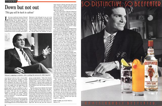 Article Preview: Down but not out, August 1989 | Maclean's