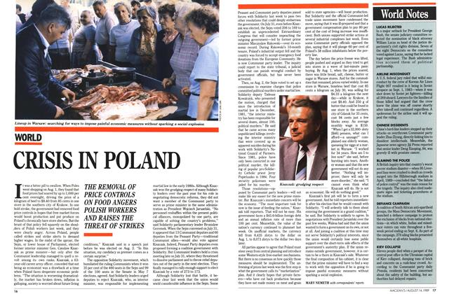 Article Preview: CRISIS IN POLAND, August 1989 | Maclean's