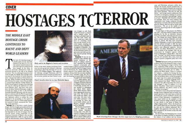 Article Preview: HOSTAGES TO TERROR, August 1989 | Maclean's
