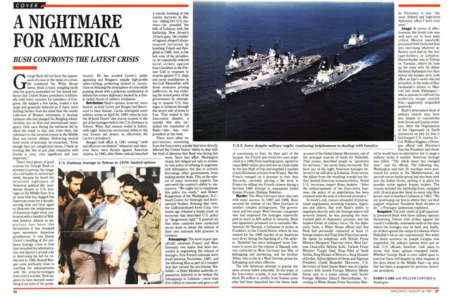 Article Preview: A NIGHTMARE FOR AMERICA, August 1989 | Maclean's
