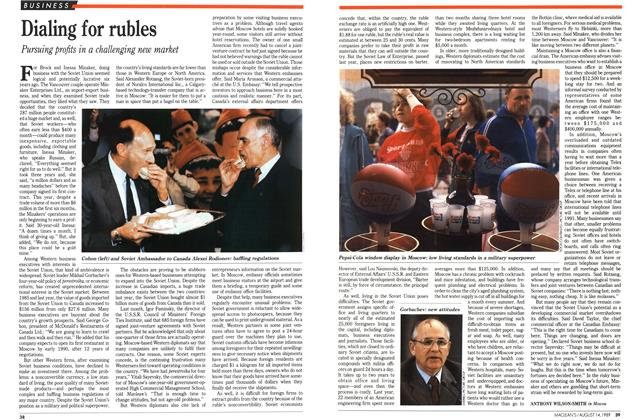 Article Preview: Dialing for rubles, August 1989 | Maclean's