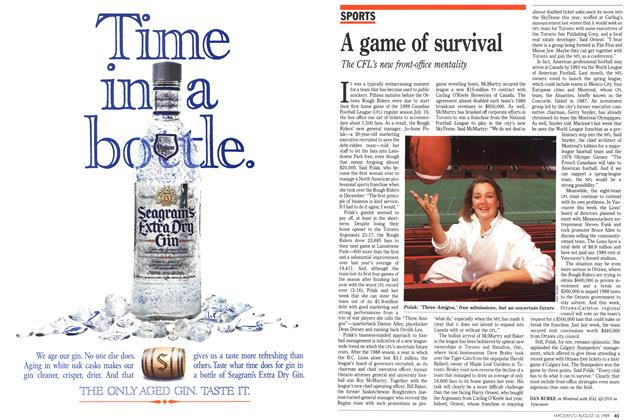 Article Preview: A game of survival, August 1989 | Maclean's