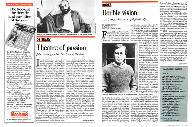 Article Preview: Theatre of passion, August 1989 | Maclean's