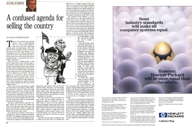 Article Preview: A confused agenda for selling the country, August 1989 | Maclean's