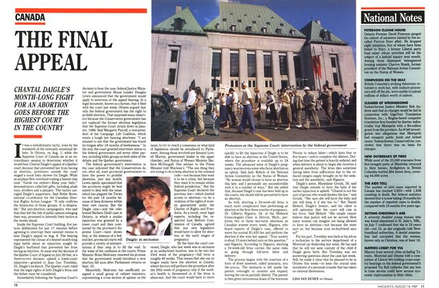 Article Preview: THE FINAL APPEAL, August 1989 | Maclean's