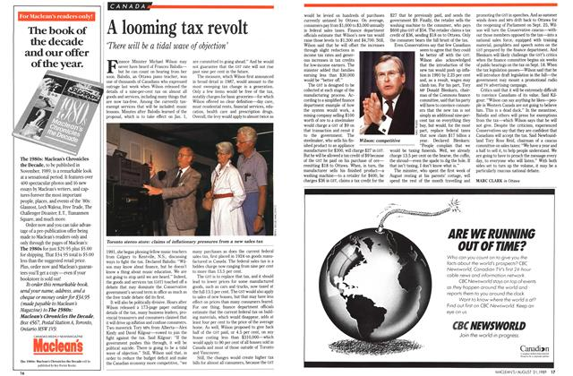 Article Preview: A looming tax revolt, August 1989 | Maclean's
