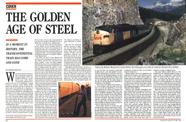 Article Preview: THE GOLDEN AGE OF STEEL, August 1989 | Maclean's
