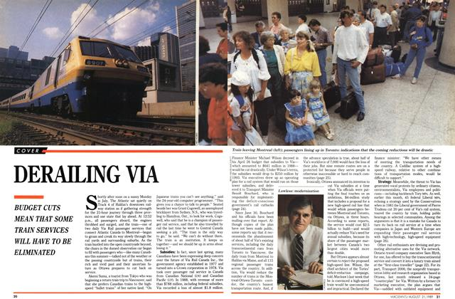 Article Preview: DERAILING VIA, August 1989 | Maclean's