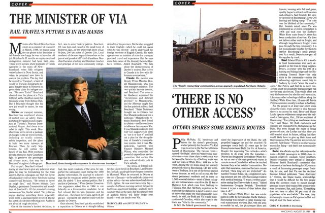 Article Preview: 'THERE IS NO OTHER ACCESS', August 1989 | Maclean's