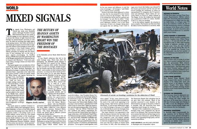 Article Preview: MIXED SIGNALS, August 1989   Maclean's