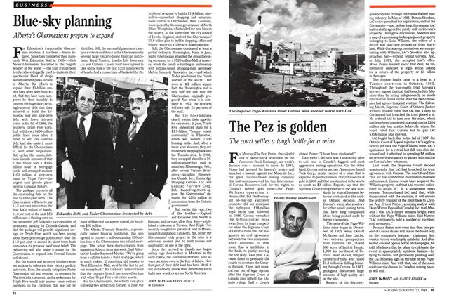 Article Preview: Blue-sky planning, August 1989 | Maclean's