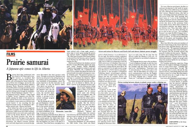 Article Preview: Prairie samurai, August 1989 | Maclean's
