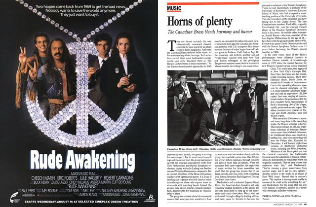 Article Preview: Horns of plenty, August 1989 | Maclean's