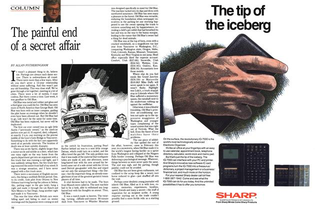 Article Preview: The painful end of a secret affair, August 1989 | Maclean's