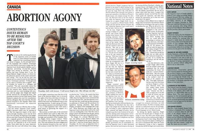 Article Preview: ABORTION AGONY, August 1989 | Maclean's