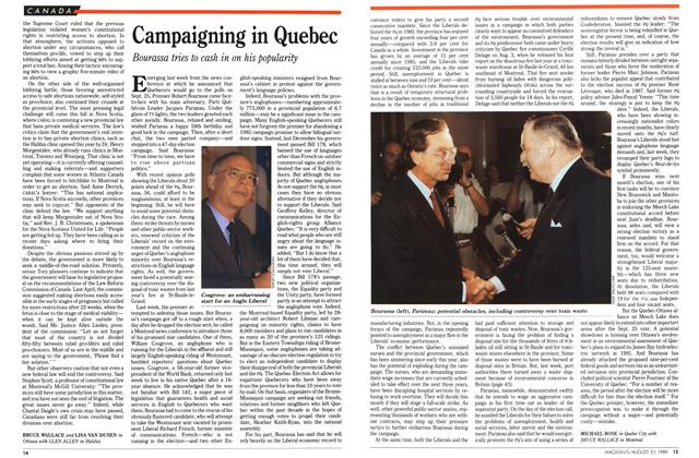 Article Preview: Campaigning in Quebec, August 1989 | Maclean's