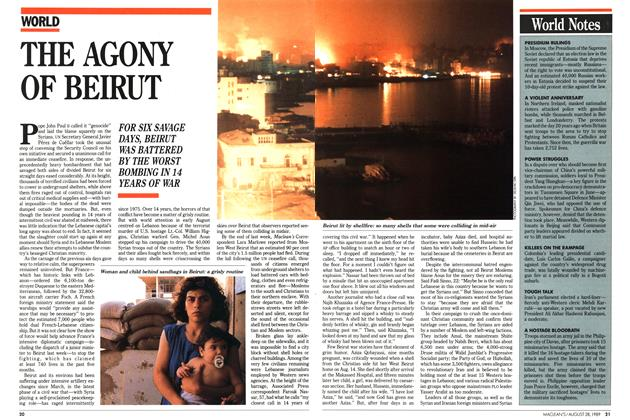 Article Preview: THE AGONY OF BEIRUT, August 1989 | Maclean's