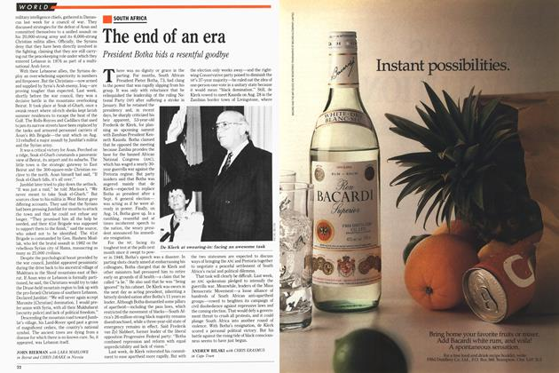 Article Preview: The end of an era, August 1989 | Maclean's