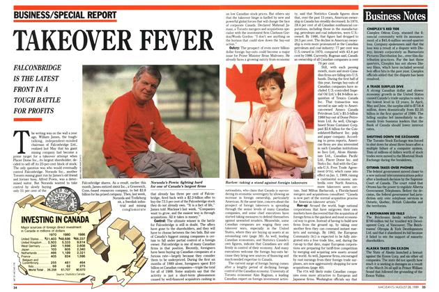 Article Preview: TAKEOVER FEVER, August 1989 | Maclean's