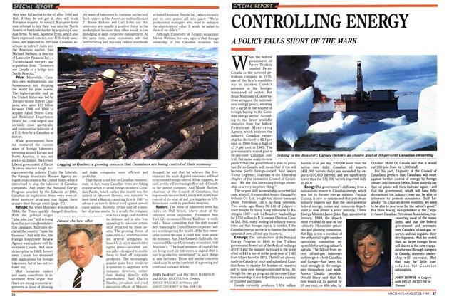 Article Preview: CONTROLLING ENERGY, August 1989 | Maclean's