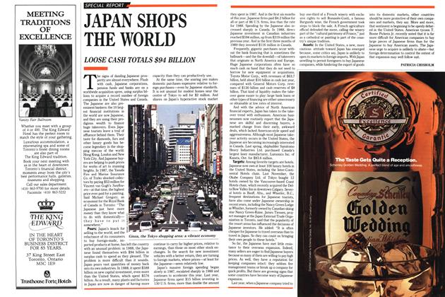 Article Preview: JAPAN SHOPS THE WORLD, August 1989 | Maclean's