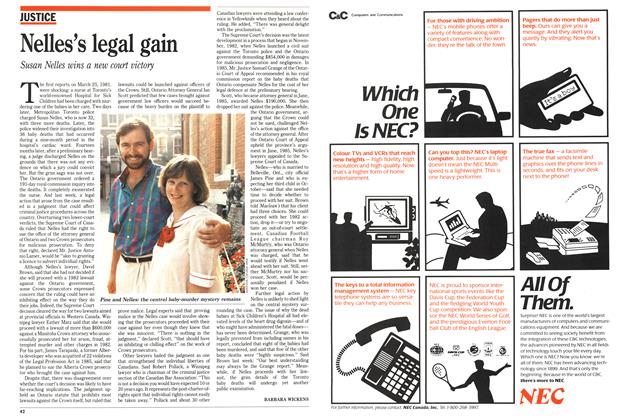 Article Preview: Nelles's legal gain, August 1989 | Maclean's