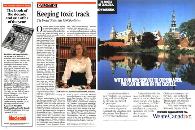 Article Preview: Keeping toxic track, August 1989 | Maclean's