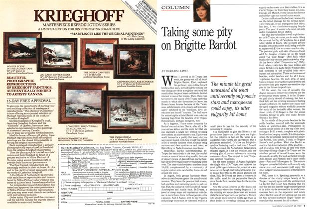 Article Preview: Taking some pity on Brigitte Bardot, August 1989 | Maclean's